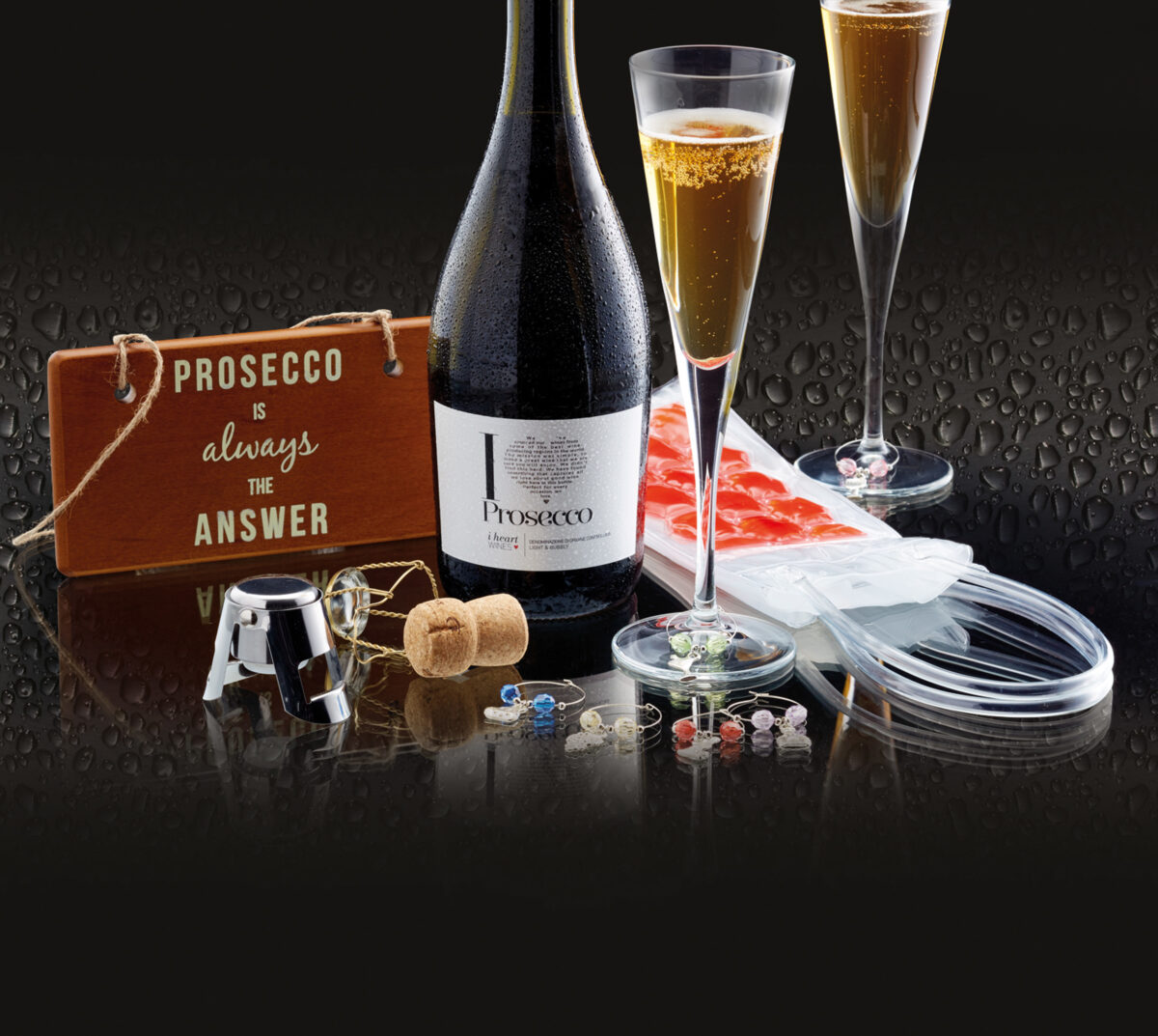 Barcraft Nine Piece Prosecco Gift Set Home & Garden Kitchen, Dining & Bar
