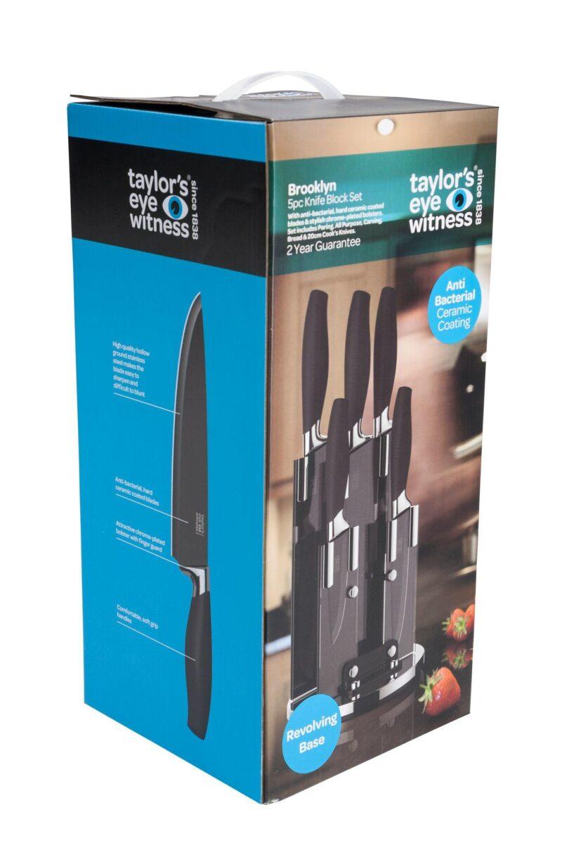 Taylor\'s Eye Witness Brooklyn 5 Piece Revolving Knife Block Set