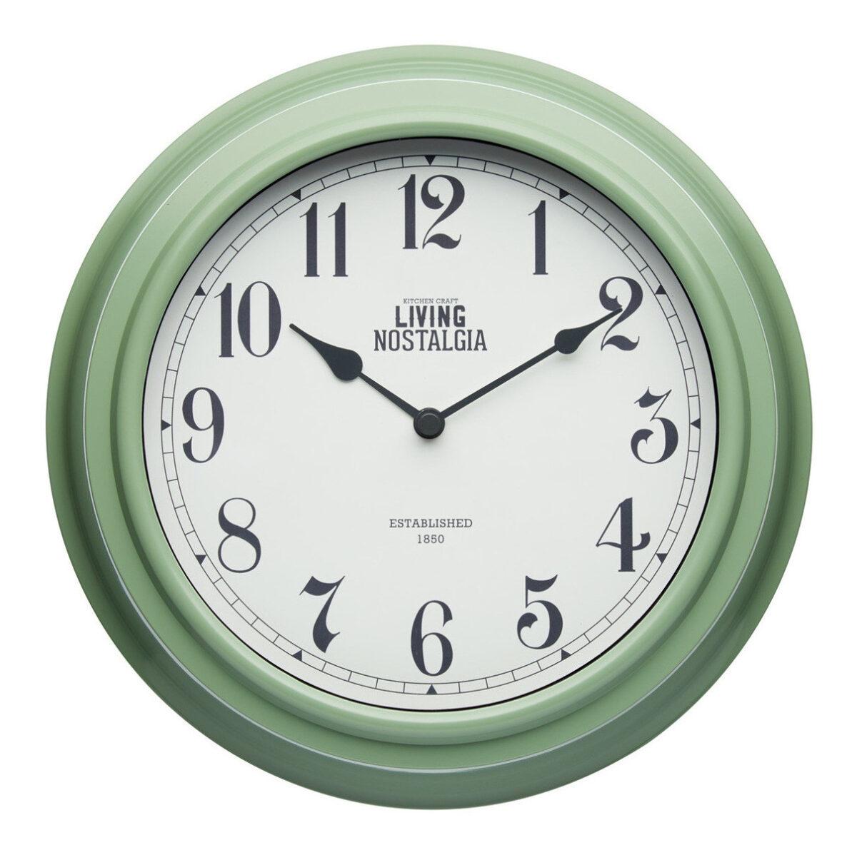 Living Nostalgia English Sage Green Wall Clock