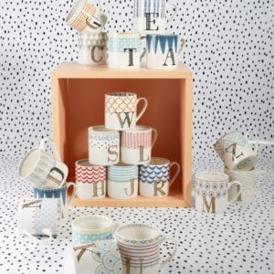 A to Z Alphabet Mugs