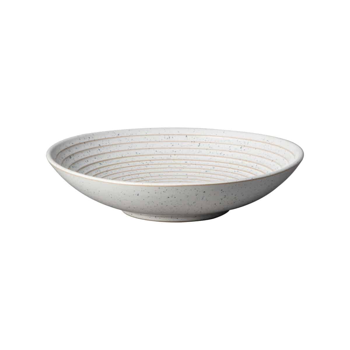 Denby Studio Blue Chalk Ridged Bowl Medium Silver Mushroom