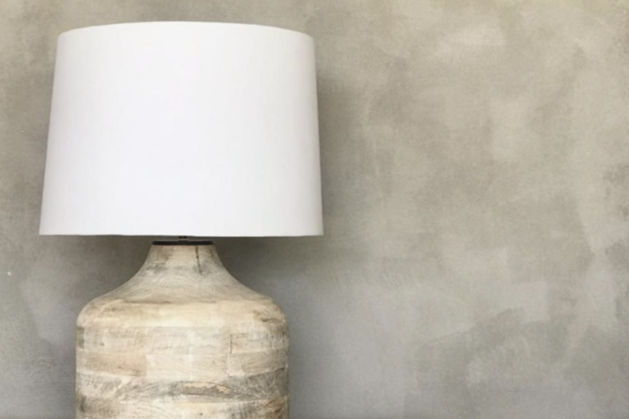 White Washed Lamp