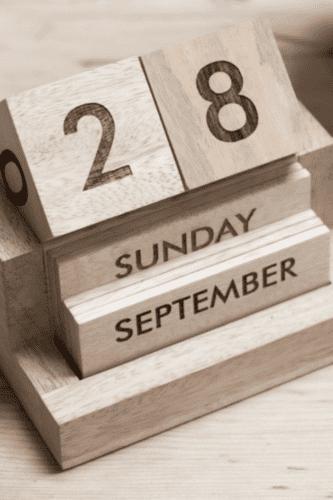 Nkuku Wooden Calendar