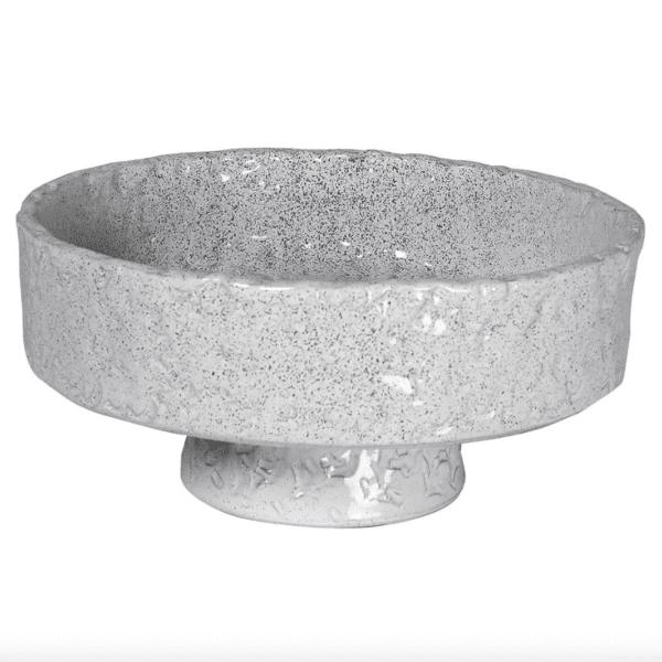 Silver Mushroom Sanctuary Rustic Footed Bowl