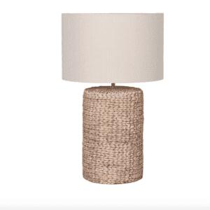 Silver Mushroom Label Rope Effect Table Lamp