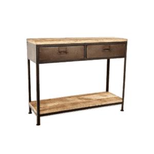 Nkuku Mansu Iron & Mango Wood Cabinet Console Table