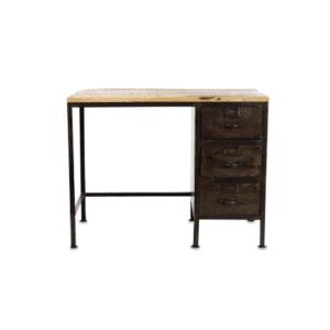 Nkuku Mansu Iron & Mango Wood Desk