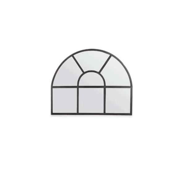 Nkuku Imoma Iron Overmantel Arch Mirror - Black