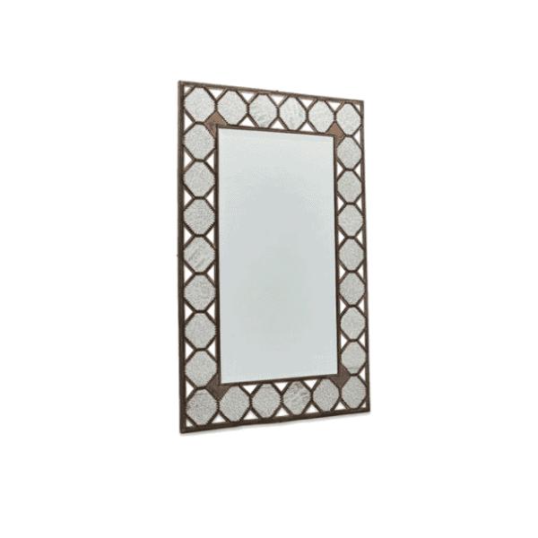 Nkuku Amaya Brass Mirror - Large