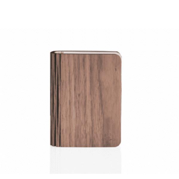 Smart Natural Wood Mini Book Light - Walnut