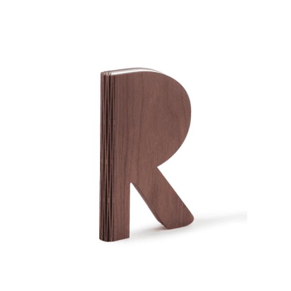 'R' Space Lamp - Walnut