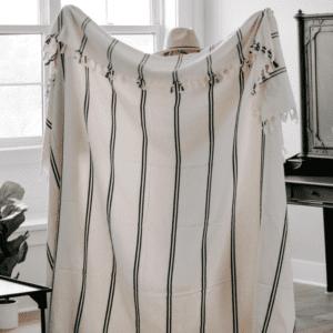 100% Turkish Cotton Two Stripe Throw