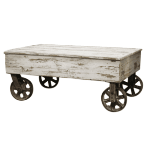 French Coffee Table With Wheels