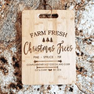 Fresh Trees Christmas Chopping Board