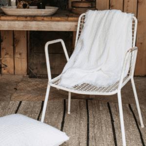 Hallen White Basket Weave Throw