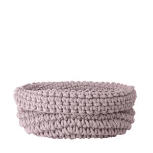 Blomus Cobo Knitted Cotton Basket - Rose Dust