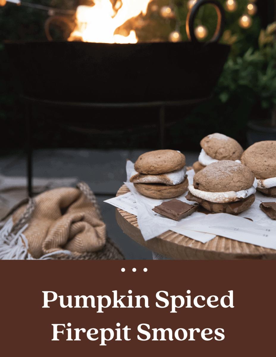 Pumpkin Spice Firepit Smores